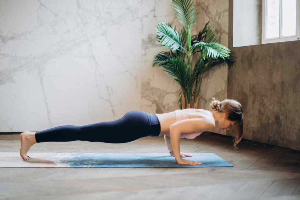 Plank yoga for weight lose