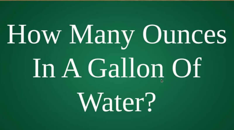 How Many Ounces of Water in a Gallon