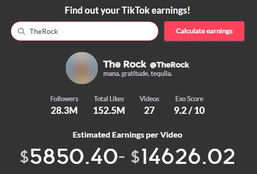 The-Rock-per-video-earning